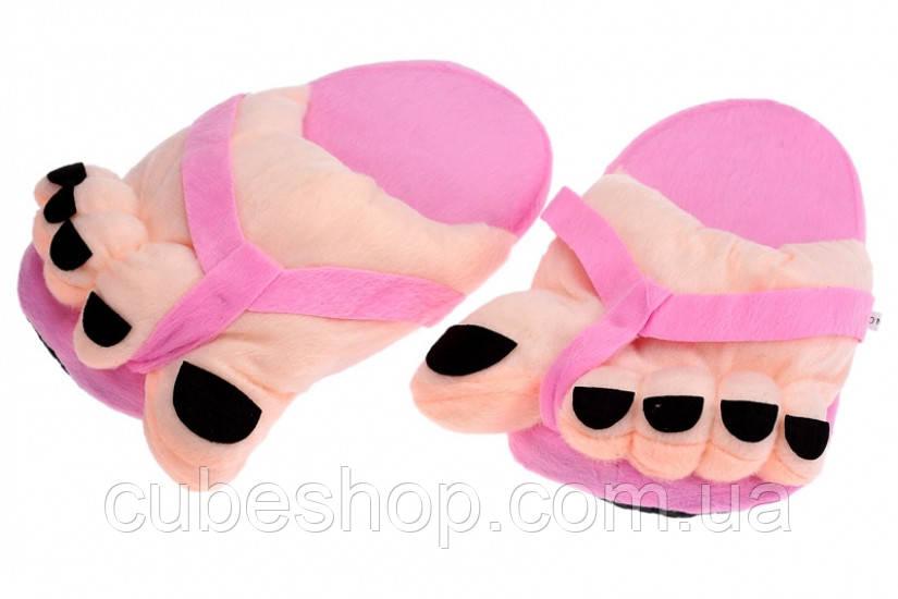 """Домашние тапочки """"Супер ножки"""" розовые"""