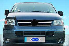 Накладки на кант решетк (8 шт, нерж) - Volkswagen T5 Transporter 2003-2010 гг.