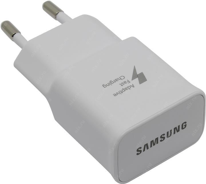 Зарядний пристрій, зарядне Samsung USB вхід 5В 2A/9В 1.67A, 220 В, USB тип-A білий
