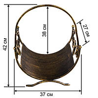 Кованая подставка для дров 2 (дровница)