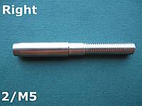 Нержавеющий наконечник с правой резьбой М5 для троса 2 мм, для леерного ограждения