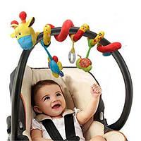 Мягкая игрушка-спираль Жираф на кроватку/коляску, Spiral Fun Giraffe