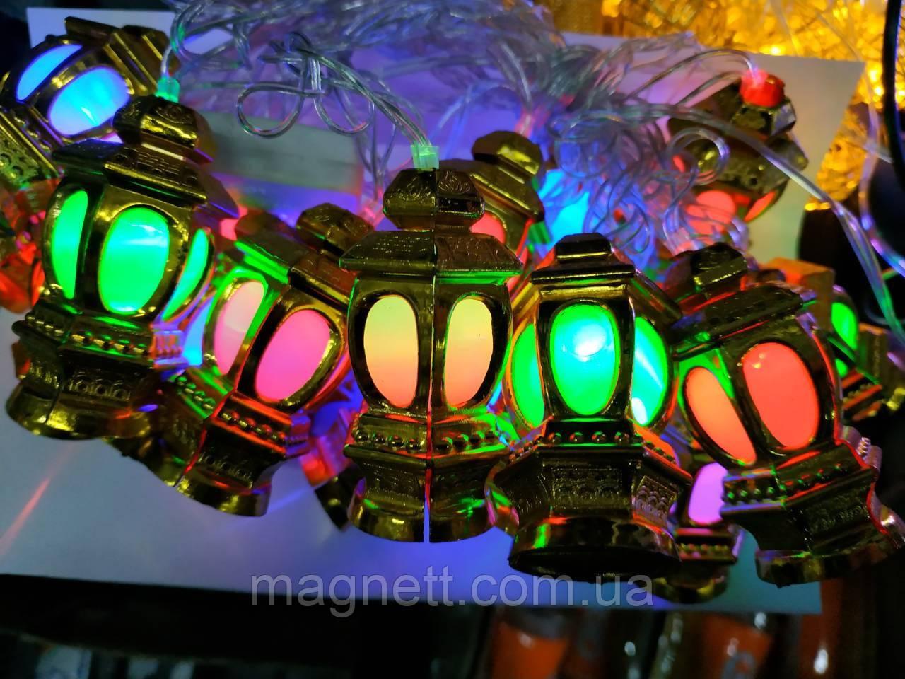 Оригинальная гирлянда фонарики 5 метров LED 20 (большие)