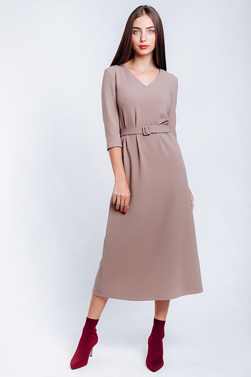 Платье женское длина миди из крепа