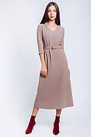 Платье женское длина миди из крепа, фото 1