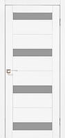 Двери Корфад PR-06 (стекло сатин белый, сатин БРОНЗА) модели - дуб браш, ясень белый, эш-вайт