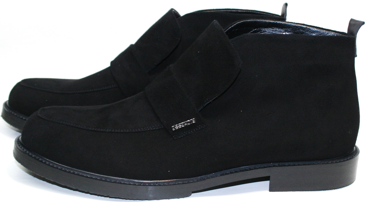 Стильные ботинки мужские - зимние лоферы Richesse - R-454