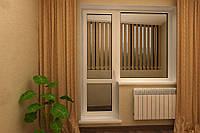Металлопластиковый балконный блок