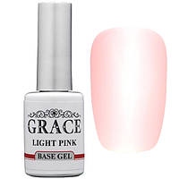 Каучуковая основа (база) для гель-лака Grace Rubber Base LIGHT PINK 10 мл