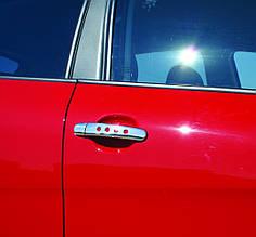 Накладки на ручки Декор (4 шт, нерж) - Volkswagen Bora 1998-2004 гг.
