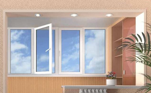 Металлопластиковый балкон лоджия