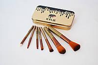Набор кистей для макияжа KYLIE в металлическом кейсе ( Мини-кисти 7 шт. ), фото 1