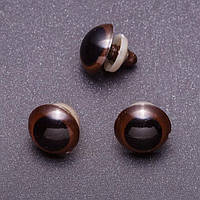 Глазки для игрушек, коричневые, 20 мм, 3 пары