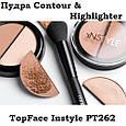 Хайлайтер и контур для макияжа TopFace Contour & Highlighter Instyle PT-262, фото 2