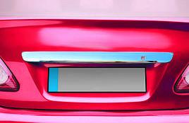 Накладка над номером 2007-2010 (нерж) - Toyota Corolla 2007-2013 рр.