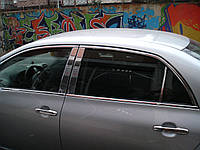 Накладки на стойки (нерж) - Toyota Corolla 2007-2013 гг.