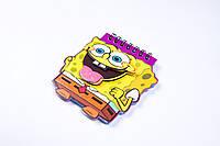"""Блокнот на спирале фигурный,""""SpongeBob"""" A-6, с аппликацией, №X-137, детские блокноты , фото 1"""