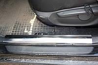 Накладки на внутренние пороги (4 шт, нерж.) - Toyota Corolla 2007-2013 гг.