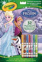 Книга-раскраска с заданиями и фломастерами Холодное сердце (32 страницы), Crayola