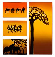 """Металокерамічний дизайн-обігрівач UDEN-S """"Африка"""" (квадріптих)"""