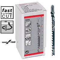 Пилка для лобзика Bosch T 244 D, HCS 100 шт/упак.