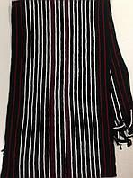 Турецкий шарф для мужчин с бахромой  в полоску