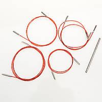 Набор лесок (кабелей) для съёмных спиц Addi (40, 50, 60, 80, 100) из соединительным элементом