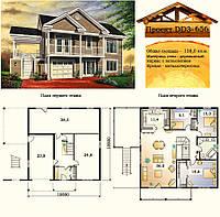 Проект каркасного дома с заполнением 138 м2. Проект дома бесплатно при заказе строительства