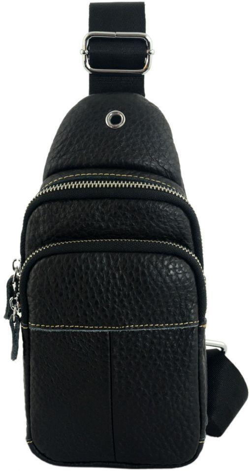 bb85d7cdeac8 Мужская сумка Traum 7172-57 через плечо, кожаная, черная — только ...