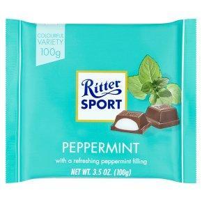 Ritter Sport Молочный с мятой 100 г. Германия