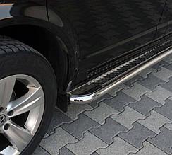 Боковые площадки Premium (2 шт., нерж.) - Toyota HiAce