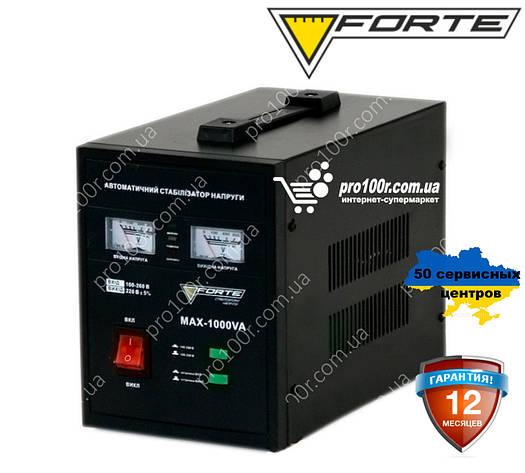 Стабилизатор релейный 1,0 кВт 1Ф Forte MAX-1000VA NEW, фото 2
