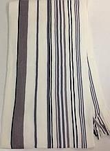 Мужской шарф с бахромой  в полоску