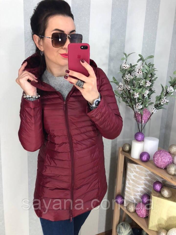 Женская удлиненная куртка на пуху с капюшоном в расцветках. Д-29-1118 (0273)