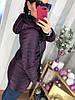 Женская удлиненная куртка на пуху с капюшоном в расцветках. Д-29-1118 (0273), фото 3