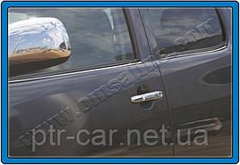 Молдинг стекол (4 шт, нерж) - Toyota Hilux 2006-2015 гг.