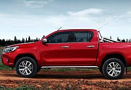 Окантовка стекол (4 шт, нерж) - Toyota Hilux 2015+ гг.