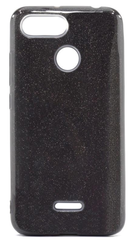 Чохол-накладка Shine для Xiaomi Redmi 6 З блискітками TPU Чорний