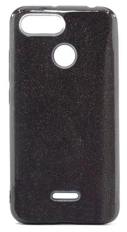 Чохол-накладка Shine для Xiaomi Redmi 6 З блискітками TPU Чорний, фото 2