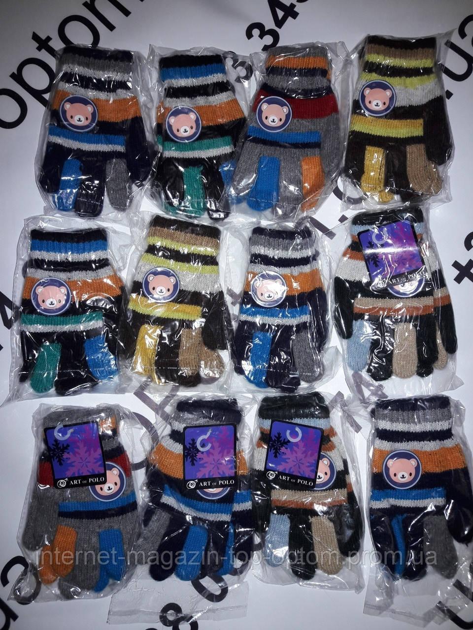 дитячі рукавички шерстяні ART POLO опт