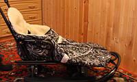 Санки зимние с чехлом, подножкой и капюшоном, фото 1