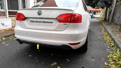 Кромка бампера (нерж) - Volkswagen Jetta 2011+ гг.