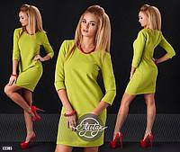 Платье ткань костюмка цвет олива размер 46