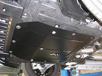 Защита картера (двигателя) и Коробки передач на Ауди А4 Б7 (Audi A4 B7) 2005-2008 г (металлическая/1.8Т)