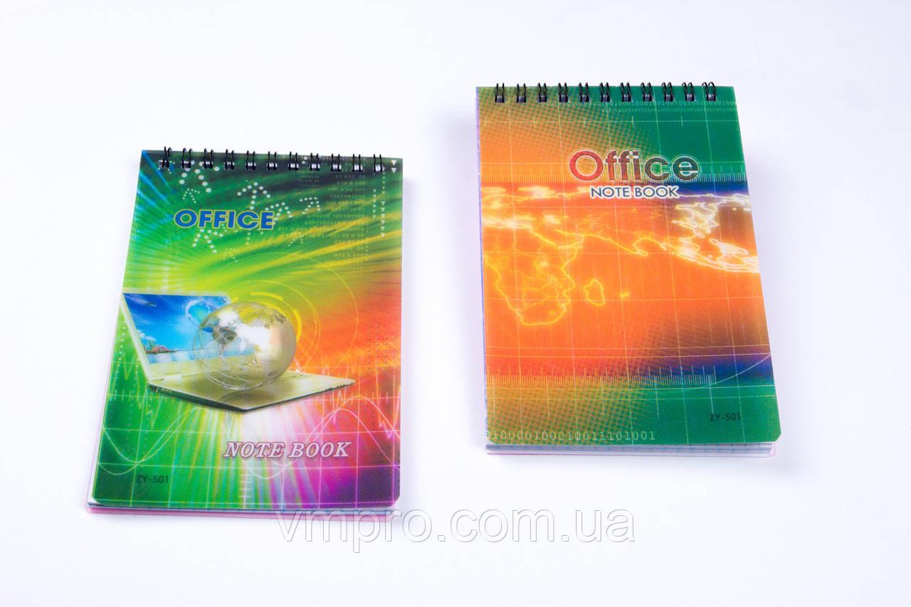 Блокнот на спирале, пластиковая обложка A-6, №ZY-501-1, детские блокноты