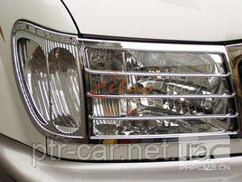 Накладки на фары V2 (2 шт, пласт.) - Toyota LС 100