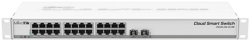 Коммутатор MikroTik CSS326-24G-2S+RM (24x1G, 2xSFP+, SwOS)