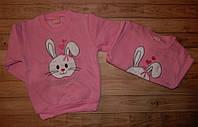 Тепла кофта для дівчинки Зайчик 2-5 років