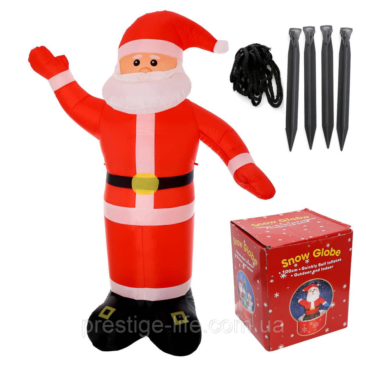 """Надувная фигура """"Дед Мороз с разноцветной подсветкой"""", 1.8м"""