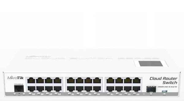 Маршрутизатор MikroTik CRS125-24G-1S-IN (24x1G, 1x1G SFP, L3)